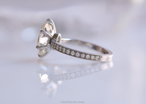 Erika Winters Fine Jewelry, Custom 6-Prong Laurel Solitaire Engagement Ring