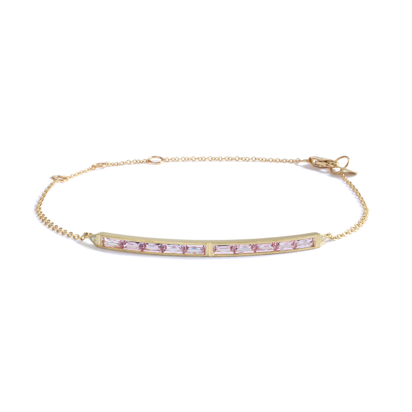 Erika Winters Fine Jewelry Estella 10-Stone Bar Bracelet