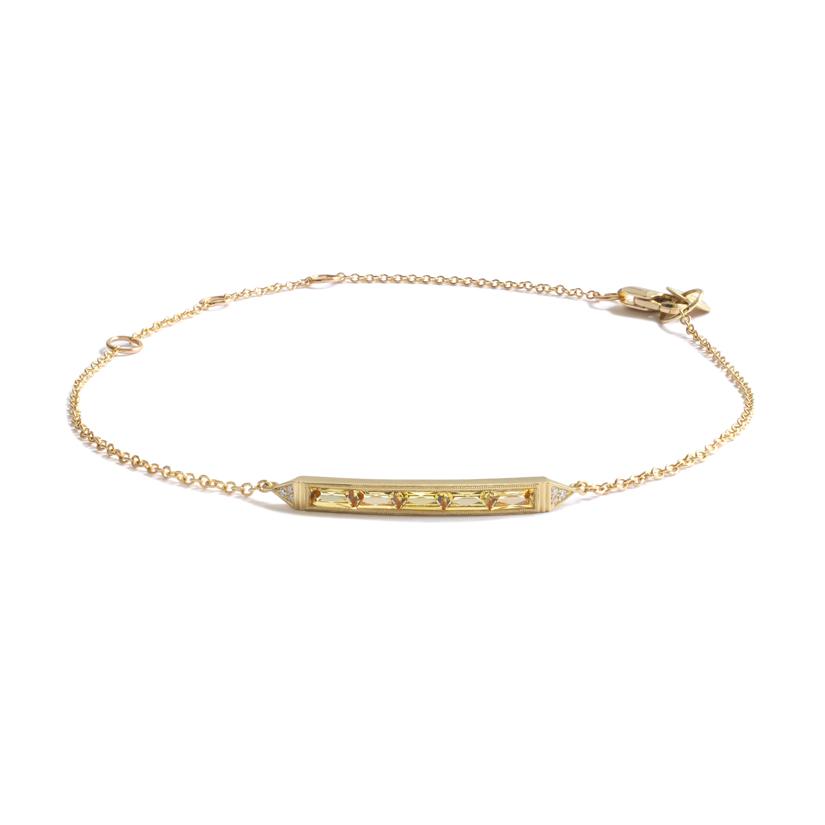 Erika Winters Fine Jewelry Estella 5-Stone Bar Bracelet