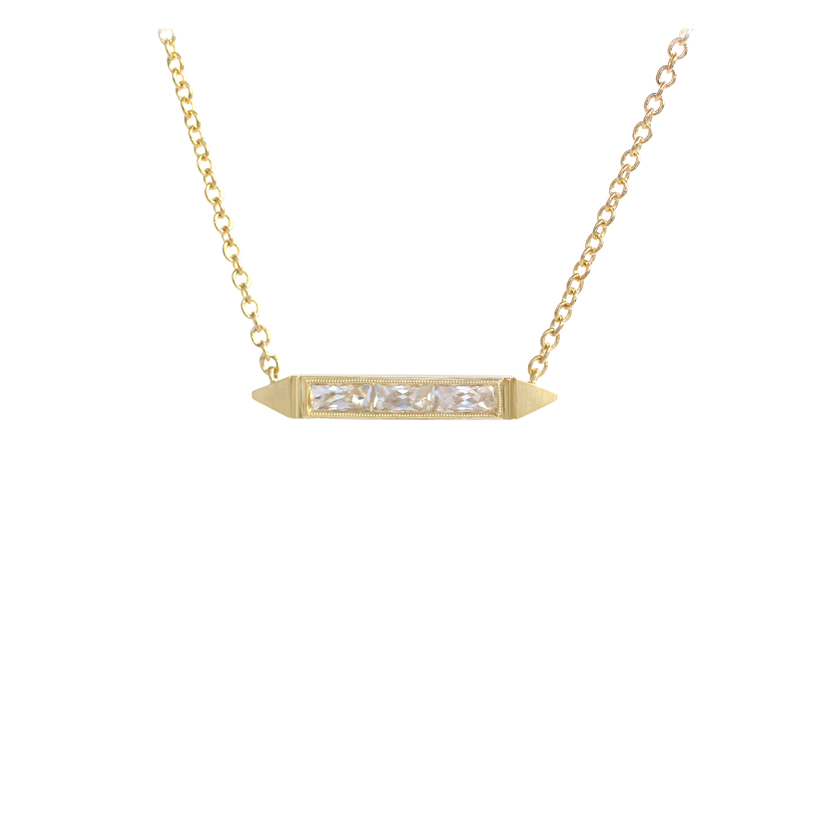 Erika Winters Fine Jewelry Estella Petite Bar Necklace