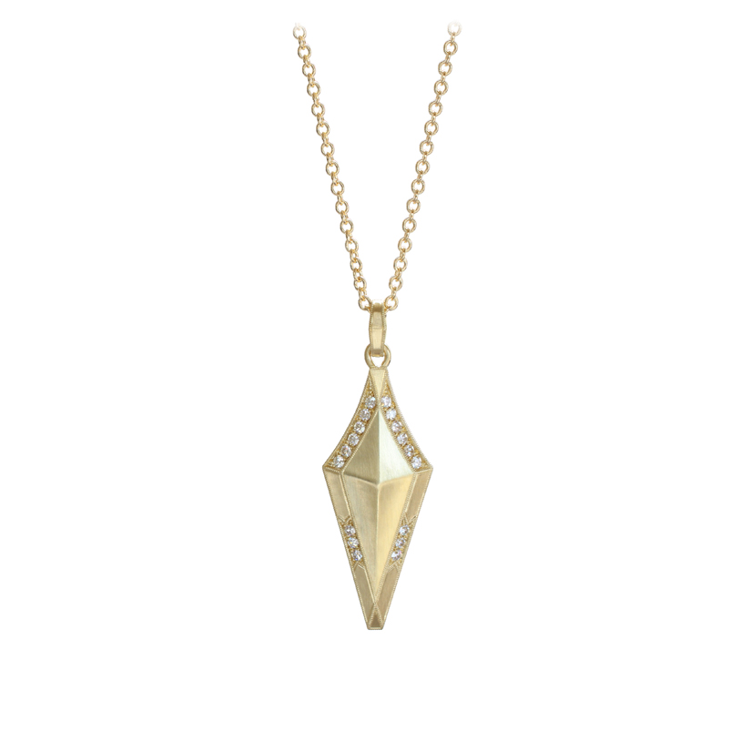 Erika Winters Fine Jewelry Estella Small Shield Necklace