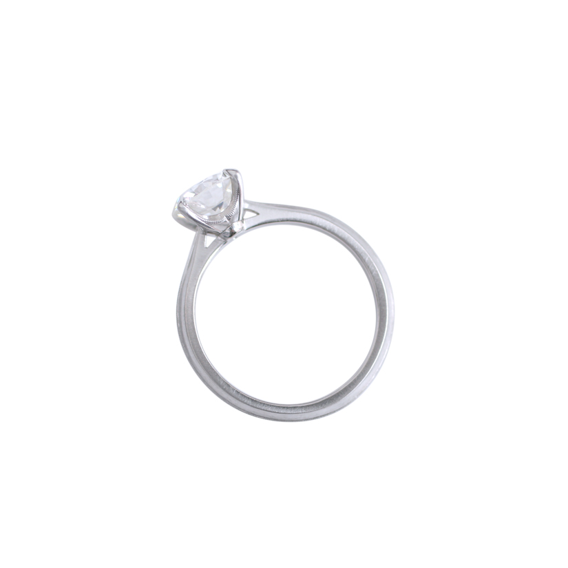 Erika Winters Fine Jewelry Lena Solitaire Engagement Ring profile