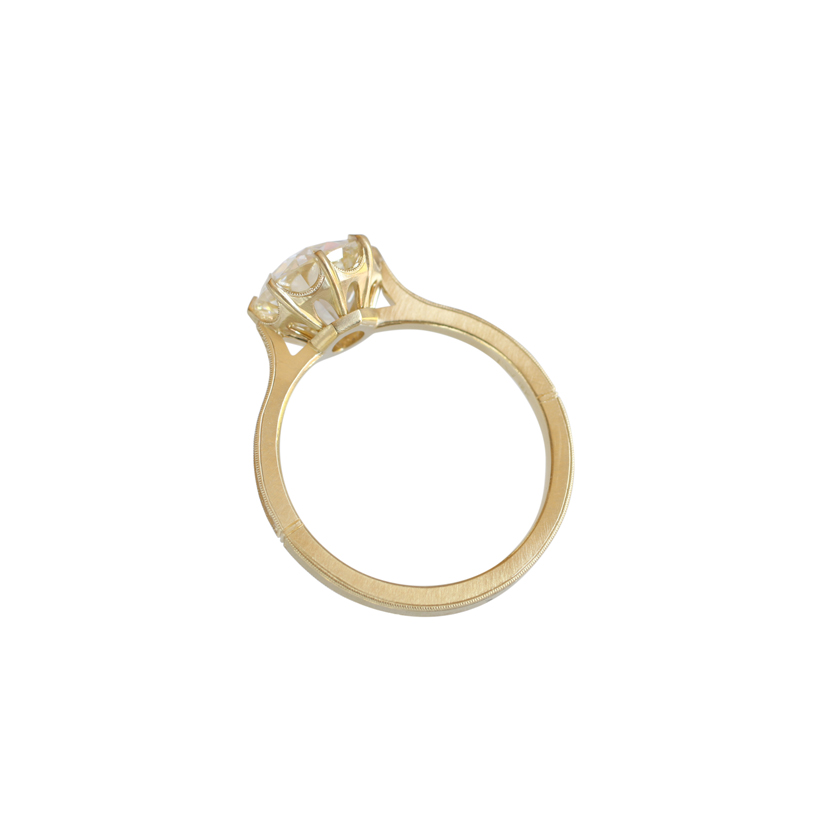 Erika Winters Fine Jewelry Victoria Solitaire Engagement Ring profile