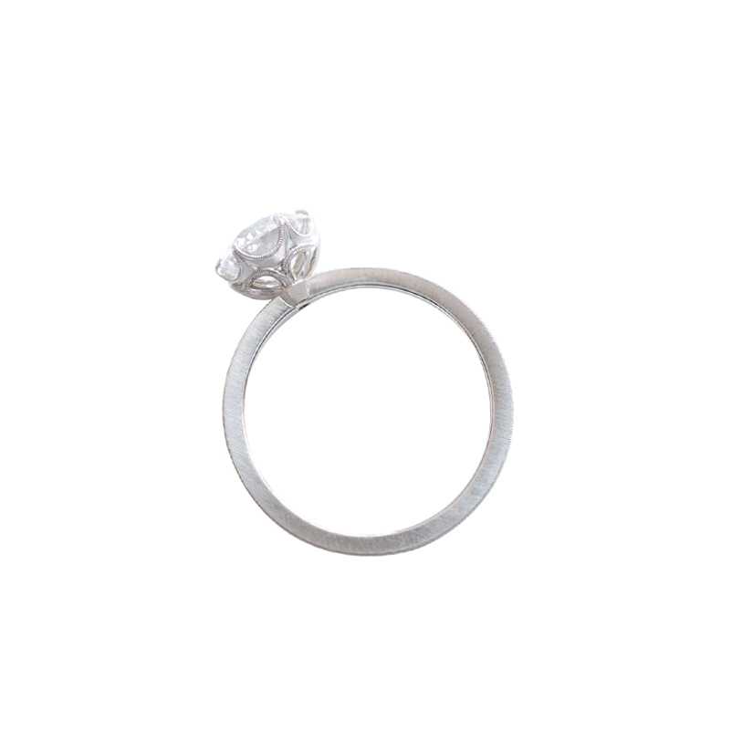Erika Winters Fine Jewelry Grace 6 Prong Solitaire Engagement Ring profile