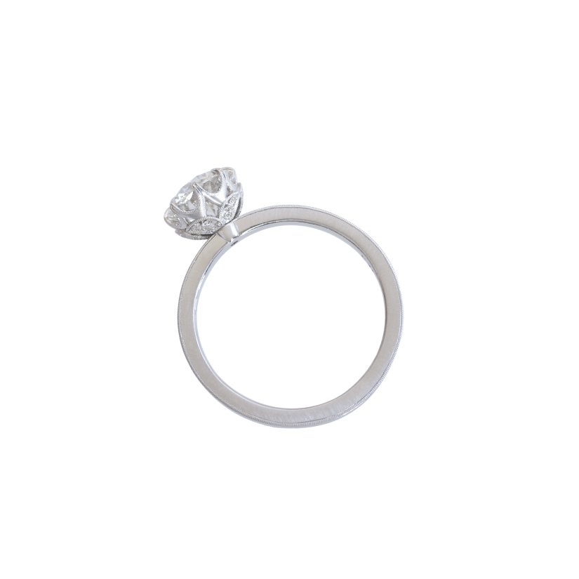 Erika Winters Fine Jewelry Grace Solitaire Engagement Ring profile