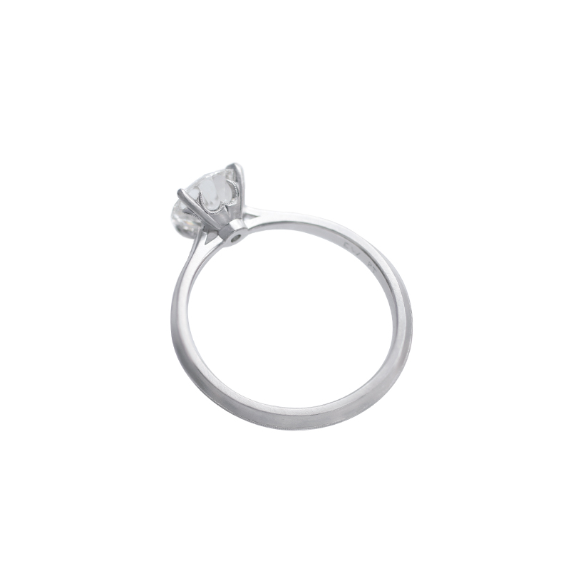 Erika Winters Fine Jewelry Laurel Cathedral Solitaire Engagement Ring profile