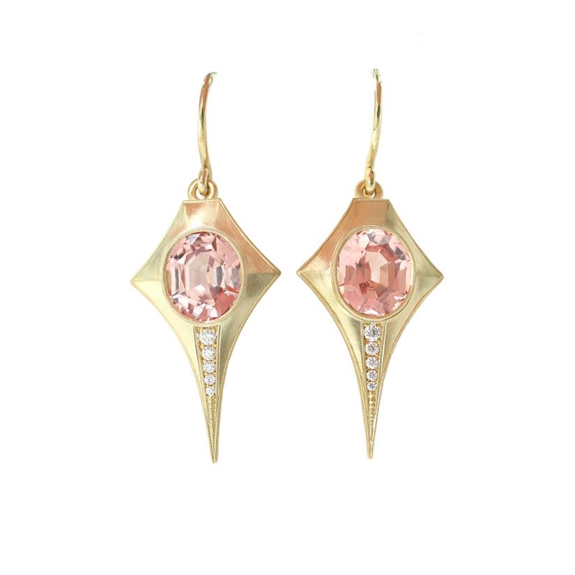 Erika Winters Fine Jewelry Estella Drop Earrings Garnets